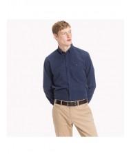 Tommy Hilfiger Regular Fit Corduroy Button Down Shirt In Navy - MW0MW08187
