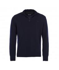 Barbour Essential Lambswool Half Zip Sweater In Charcoal - MKN0339CH51