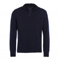 Barbour Essential Lambswool Half Zip Sweater In Navy Blue - MKN0339NY71