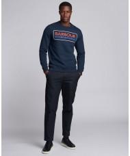 Barbour International Event Sweatshirt In Navy Blue - MOL0316NY91