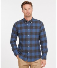 Barbour Men's Malton Check Tailored Shirt In Navy & Blue - MSH5028NY91
