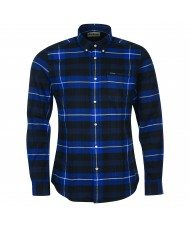 Barbour Men's Portdown Check Tailored Fit Shirt In Black White & Blue - MSH5035BK31