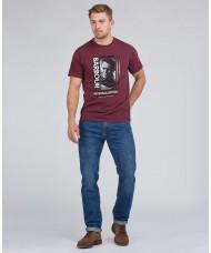 Barbour International Goggles Steve McQueen™ T-Shirt In Merlot- MTS0864RE94