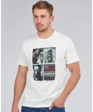 Barbour International Multi Image Steve McQueen™ T-Shirt In Whisper White - MTS0866WH32