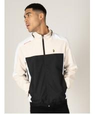 Luke Sport Brownhills Benyon Shower Resistant Jacket In White Cream & Black - M560750