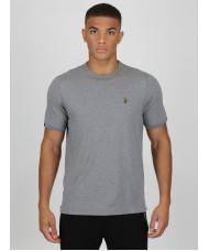 Luke Sport Traff Core Crew Neck T Shirt In Mid Grey Marl - ZM280165