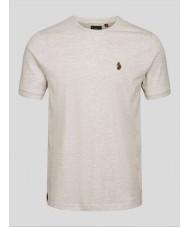 Luke Sport Traff Core Crew Neck T Shirt In Light Grey - ZM280165