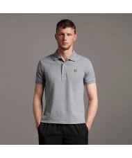 Lyle & Scott Plain Polo Shirt In Mid Grey Marl - SP400VOG