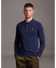 Lyle & Scott Long Sleeve Polo Shirt In Navy Blue  - SP400VOG