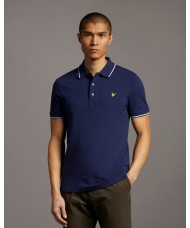 Lyle & Scott Tipped Polo Shirt In Navy Blue  - SP1524VOG