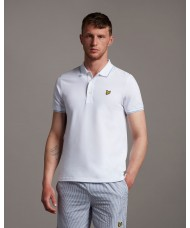 Lyle & Scott Tipped Polo Shirt In White - SP1524VOG