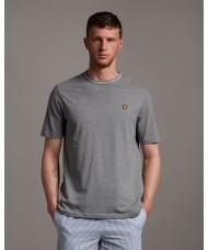 Lyle & Scott Branded Ringer T Shirt In Mid Grey Marl - TS1357V