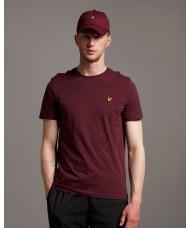 Lyle & Scott Crew Neck T-Shirt In Burgundy - TS400V