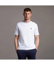 Lyle & Scott Branded Ringer T Shirt In White - TS1357V