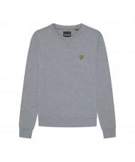 Lyle & Scott Mid Grey Marl Cotton Sweatshirt - ML424VOG