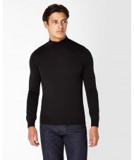 Remus Uomo Slim Fit Merino Wool-Blend Turtle Neck Sweater In Black 3_53889_00
