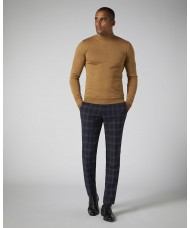Remus Uomo Slim Fit Merino Wool-Blend Turtle Neck Sweater In Camel 3_53889_45