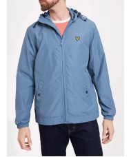 Lyle and Scott  Zip Through Hooded Jacket In Mist Blue - JK464V