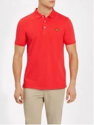 Lyle & Scott Short Sleeve Pique Polo Shirt In Poppy Red - SP400VB