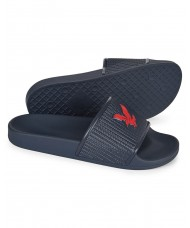 Lyle & Scott Eddie new style slip-on sandal In Navy & Red - FW1119