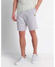 Lyle & Scott Sweat Short In Light Grey Marl - ML414VTR