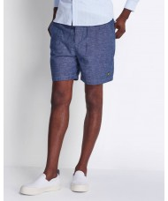 Lyle & Scott Cotton Linen Walkshort In Navy - SH1203V