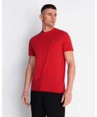 Lyle & Scott Crew Neck T-Shirt In Gala Red - TS400V