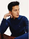 Tommy Hilfiger Pure Organic Cotton Crew Neck Jumper In Pitch Blue - MWOMW13124