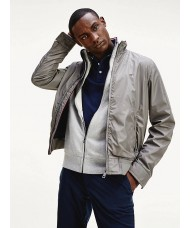 Tommy Hilfiger Stand-Up Collar Bomber Jacket In Pewter Grey - MWOMW12230 PQ8