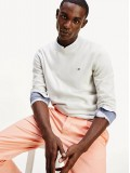 Tommy Hilfiger Pure Organic Cotton Crew Neck Jumper In Light Stone - MWOMW13124