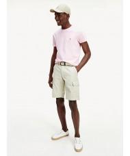 Tommy Hilfiger Stretch Cotton Slim Fit T Shirt In Pale Pink -  MW0MW10800 TOL