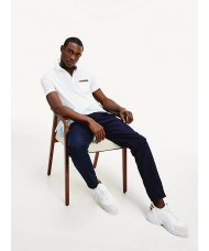 Tommy Hilfiger Signature Chest Pocket Polo In White - MWOMW13156 YBR