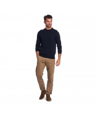 Barbour Light Cotton Sweater In Navy Blue -  MKN1164NY91