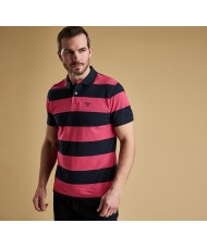 Barbour Harren Stripe Polo Shirt In Sorbet - MML0998PI18