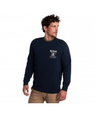 Barbour Reed Sweatshirt In Navy Blue - MOL0222NY91
