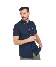 Barbour Oxford 3 Short Sleeved Shirt In Navy Blue MSH4481NY91