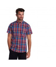 Barbour Madras 5 Short Sleeved Shirt In Red- MSH4665RE51