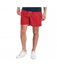 Barbour Crest Swim Shorts In Red - MSW0035RE33