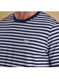 Barbour Delamere Stripe T-Shirt In Inky Blue - MTS0511BL53