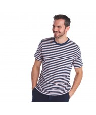 Barbour Delamere Stripe T-Shirt In Chalk Pink - MTS0511PI32