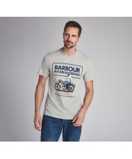 Barbour International Steve McQueen™ Relaxed T-Shirt In Grey Marl -  MTS0695GY52