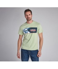 Barbour International Steve McQueen™ Pinstripe T-Shirt In Vintage Green - MTS0698GN16
