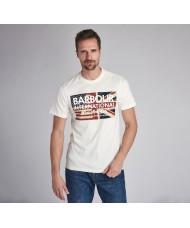Barbour International Steve McQueen™ Vintage Flag T-Shirt In White -MTS0705WH32