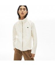 Lacoste Lightweight Water Resistant Full Zip Windbreaker In White - BH5292