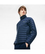 Lacoste Men's Quilted Water repellent Jacket In Blue - BH9389 00 JE1