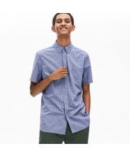 Lacoste Men's Regular Fit Short Sleeve Cotton Check Shirt - CH0004 00 X6D
