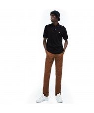 Lacoste Men's Regular Fit Pima Cotton Polo Shirt In Black- DH2050 00 031