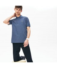 Lacoste Men's Classic Fit Marl cotton petit piqué Polo Shirt In Blue Marl - L1264 00 2GF
