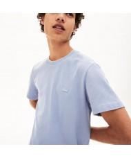Lacoste Men's Cotton Piqué Crew Neck T-shirt In Pale Blue - TH4998 00 XGW