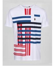 "Luke ""Different Strokes"" Crew Neck Print T Shirt In White - M520156"